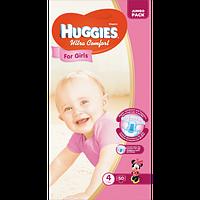 Подгузники детские Huggies Ultra Comfort 4, 7-16 кг 50 шт для девочек Jumbo Pack