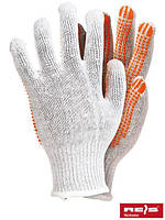 Перчатки защитные белого цвета, изготовленные из трикотажа RDZN-flexiFLUO WP
