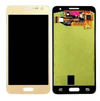 Дисплей (модуль) + тачскрин (сенсор) Samsung Galaxy A3 A300 A300F A300H A3000 (золотой, яркость регулируется)