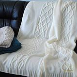 Плед вязанный 140х180см Carmel белый SoundSleep , фото 4