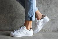 Adidas Superstar Snake White. Женские кроссовки Adidas Superstar.