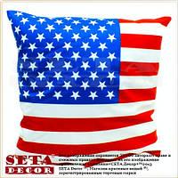 Наволочка на подушку Американский флаг 43х43 см, декоративная