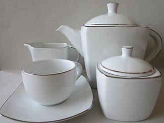 Сервиз чайный на 12 персон Energy Платина