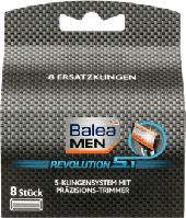 Сменные лезвия для станка Balea men Revolution 5.1, 8 шт