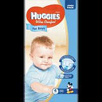 Подгузники детские Huggies Ultra Comfort 4, 7-16 кг 50 шт для мальчиков Jumbo Pack