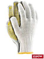 Перчатки защитные, сделанные из х/б с односторонним слоем ПВХ RDZN WY