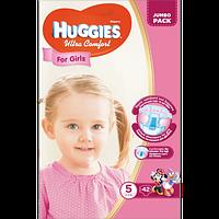 Подгузники детские Huggies Ultra Comfort 5, 12-22 кг 42 шт для девочек Jumbo Pack