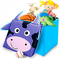 Детский пуфик с ящиком для мелочей Корова от ТМ УкрОселя