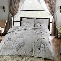 TAC Brenna gri сатин семейный комплект постельного белья
