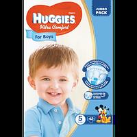 Подгузники детские Huggies Ultra Comfort 5, 12-22 кг 42 шт для мальчиков Jumbo Pack