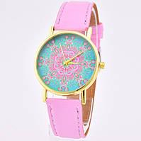Часы 54797 диаметр циферблата 3.7 см, длина ремешка 18-21 см, розовый цвет