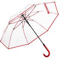 Зонт трость Fare 7112 прозрачный/красный