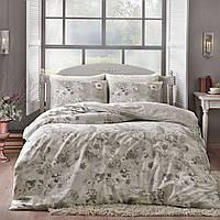 TAC Allure gri сатин семейный комплект постельного белья