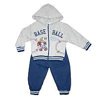 Костюм для мальчика 1-3года (80-98) кофта+штаны арт.556