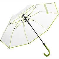 Зонт трость Fare 7112 прозрачный/лайм