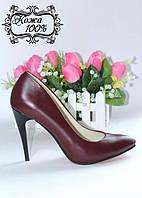 Стильные женские туфли - лодочки T4 на высоком каблуке