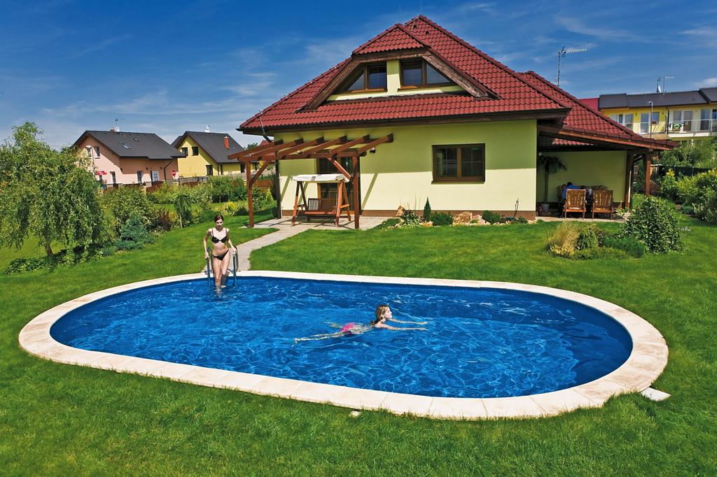 Монтаж чешского сборного заглубляемого бассейна IBIZA.