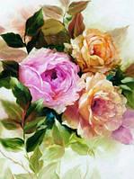 Алмазная мозаика без коробки MyArt Пастельные лепестки цветов 40 х 30 см (арт. MA602)