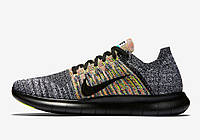 Nike Free Run Flyknit Grey/Black, фото 1