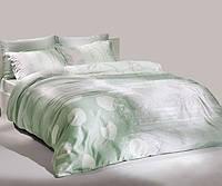 TAC Grisel green сатин семейный комплект постельного белья