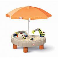 Детский игровой стол - песочница с зонтом Little Tikes 401N