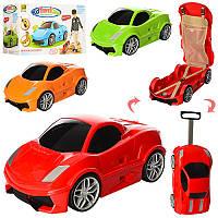 Сумка MK 1212 (6шт) чемодан-машина,49-27-21см,руч выдв,на колесах,внутр.карман,4цв,в кор,50-30-21см