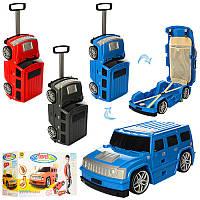 Сумка MK 1182 (4шт) чемодан-машина56-21,5-19,5см,руч выдв,на колесах,3цв,в кор-ке,55-32-21см