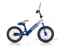 Детский беспедальный велосипед Azimut Balance Bike Air 12  графит-салатовый
