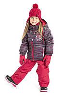 Зимний термокостюм для девочки 3-8 лет (куртка и полукомбинезон), р. 98-134 ТМ Peluche&Tartine Scarlet F17 M 68 EF