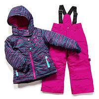 Зимний термокостюм для девочки 3-8 лет (куртка и полукомбинезон), р. 98-134 ТМ Peluche&Tartine Pale Navy F17 M 68 EF