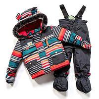 Зимний термокостюм для мальчика 1-3 лет, р. 80-98 ТМ Peluche&Tartine Deep Grey F17 M 09 BG