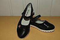 Туфли на девочку 27-32 р черные .Новинка