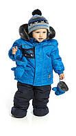Зимний термокостюм для мальчика 1, 2 лет, р. 80, 92 ТМ Peluche&Tartine Navy F17 M 07 BG