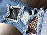 Джинсы для девочки рваные с сеткой., фото 2