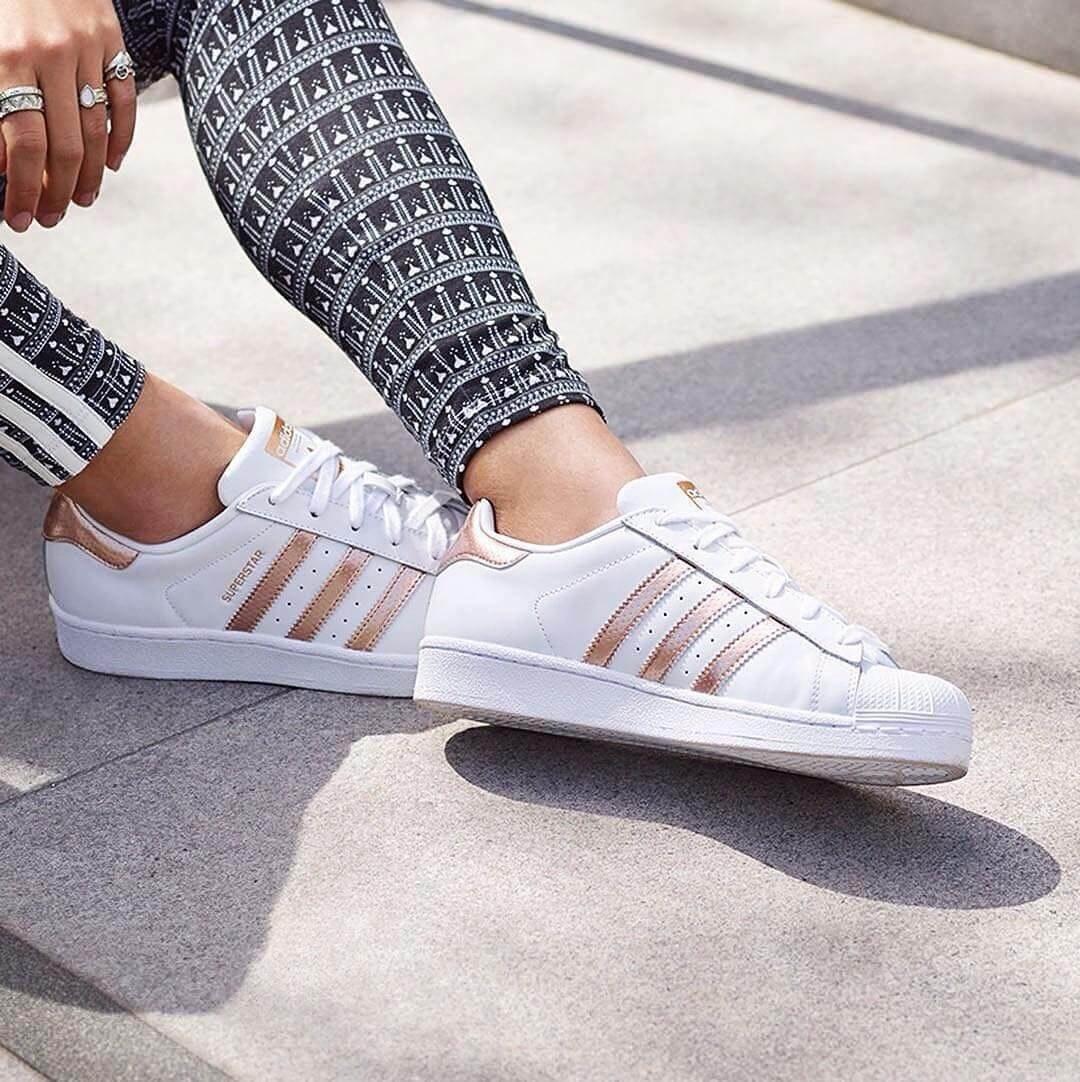 Adidas Superstar Rose Gold. Стильные женские кроссовки. Белые ... 3ea0eca4a86