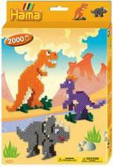 Набор 'Динозавры', термомозаика Hama 3434