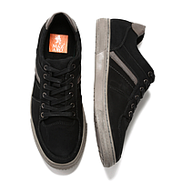 Черные кожаные польские мужские туфли Mazaro SD72-1