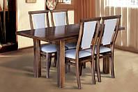 Стол МИКС-Мебель Петрос 1200(+400)*800 (темный орех), фото 1