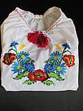 Детские вышитые блузы гладью., фото 5