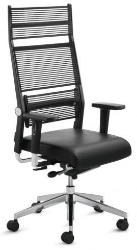 Крісло офісне керівника з високою спинкою Enrandnepr LORDO DAUPHIN Чорний