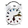 Часы будильник Ring белые