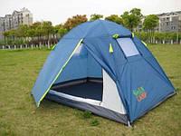 Двухместная туристическая палатка Green Camp 1001 B с тамбуром.