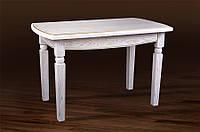 Стол МИКС-Мебель Кайман 1200(+400)*7000 (белый/патина), фото 1