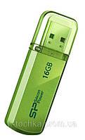 Usb 2.0 флеш silicon power helios 101 16 gb green (sp016gbuf2101v1n)