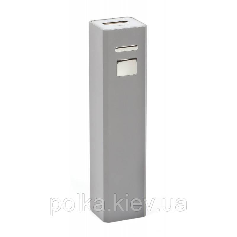 Зарядное устройство Power bank 2200 мАч серебрянный