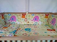 Защита,бортики, бампер, охранка, защитное ограждение в кроватку детскую-Африка, фото 1