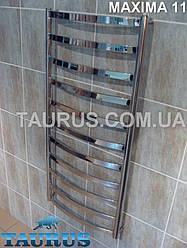 Большой нержавеющий полотенцесушитель Maxima 11/1150 х 500 мм.: водяной, гибридный и электро. Плоская труба