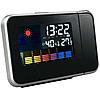 Часы с проектором времени Метеостанция