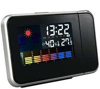 Часы с проектором времени Метеостанция, фото 1