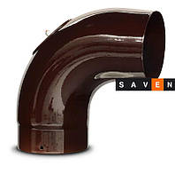Колено для дымохода эмалированное стальное DOVRE 90° Ø150 E6